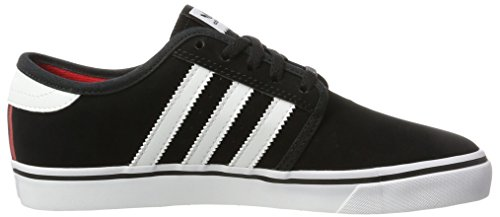 adidas Seeley, Chaussures de Skateboard Mixte Adulte, Noir Noir (Core Black/Footwear White/Scarlet)