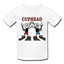 Kazzar Kid's Cuphead And Mugman! Round Collar T Shirt