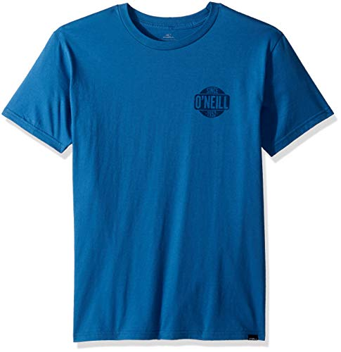 - O'Neill Men's Modern Fit Front and Back Logo Short Sleeve T-Shirt, Sans Air Force Blue L