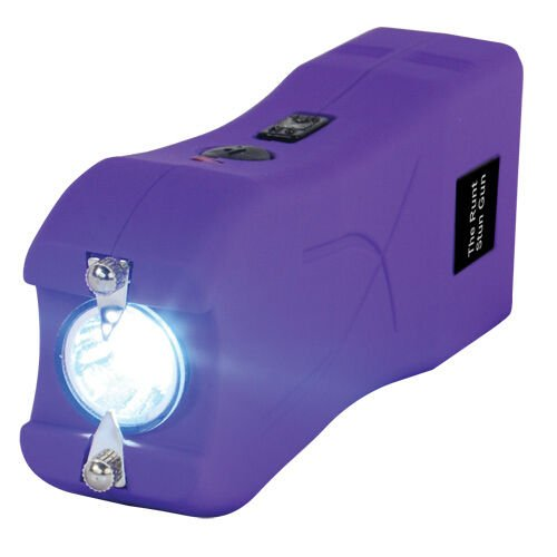 Runt-20-MILLION-Volt-stun-gun-wLED-Flashlight-Disable-Pin-Purple