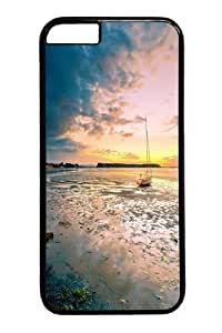 iPhone 6 Case, iPhone 6 Cases -Lake Sunset Landscape PC Hard Plastic Case for iphone 6 4.7 inch Black