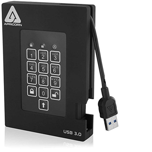 Apricorn Aegis Fortress FIPS 1 TB 140-2 Level 2 Validated 256-Bit Encrypted USB 3 External SSD (A25-3PL256-S1000F)