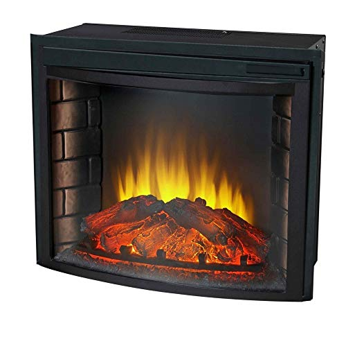 """24"""" Curved Electric Fireplace Insert - Firebox with Heater C"""