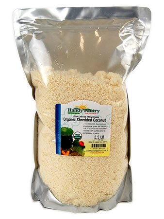 Organic Raw Shredded Coconut - 2.5 Lbs - Unsweetened - All Natural, Non-GMO, Naturally Sweet: Cooking, Recipes, Making Coconut Milk, More by Handy Pantry