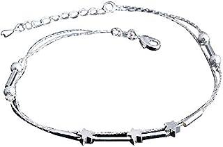Leisial Bracelet de cheville à 5 étoiles Argenté R170415X11WM106