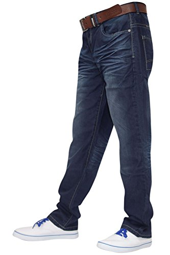 Gratis Denim Dark Mens Wash Cintura Fit Crosshatch New Pantaloni Regular Designer Jeans Con tvxqCwFA