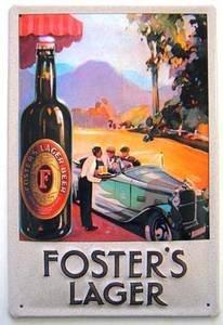 fosters-lager-car-embossed-metal-sign-hi-3020