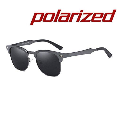 Moda Marco Negro aluminio y Aleación Mujer Gafas sol Marco Gris magnesio JULI Lente Hombre de de Polarizadas Deportes Irrompible R6dUnnvqg