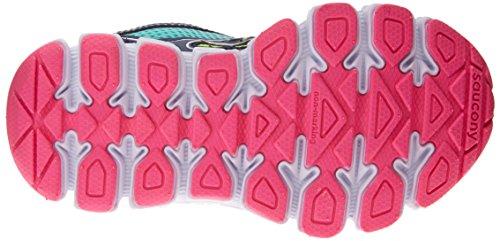 Saucony Kids Turq/Navy/Pink Girls Kotaro Grade School 6.5 X-Wide US