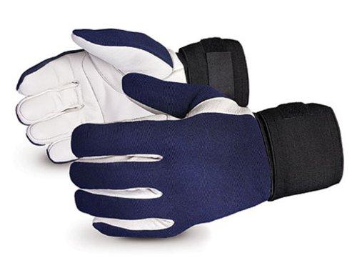 Superior VIBGV Vibrastop Goatskin Leather Palm Full-Finger Vibration-Dampening Glove, Work, 9'' Length, 2X-Large (Pack of 1 Pair)