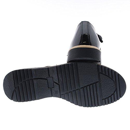 Charol Zapatos 5778 lengüeta Negro CLARYS zB4qRxwS4