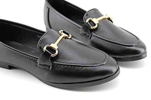MODELISA Women's Loafer Flats Black 5tIqPIQhV