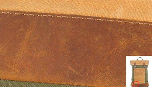 LQABW Neue Retro Rucksack Canvas Leder Schultertasche Outdoor Casual Bergsteiger Rucksack Blue