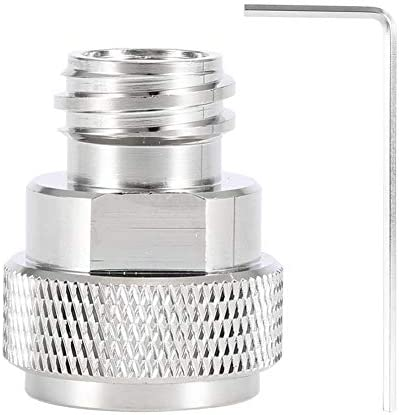 Messing CO2 Adapter2 Kleuren Messing CO2 Adapter Vervang Tank Canister Conversie voor Sodastream Zilver