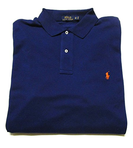 Polo Ralph Lauren Men's Big and Tall Pique Cotton Polo Shirt (3XLT, Fall - Rugby Sleeve Short Pique
