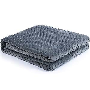 kpblis minky duvet cover weighted blanket 60 x80 just cover dark grey home kitchen. Black Bedroom Furniture Sets. Home Design Ideas