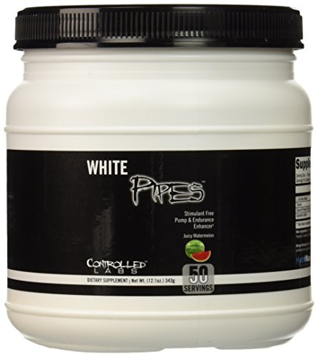 Controlled Labs White Pipes Stimulant Free Pump and Endurance Enhancer, Juicy Watermelon, 343 Gram