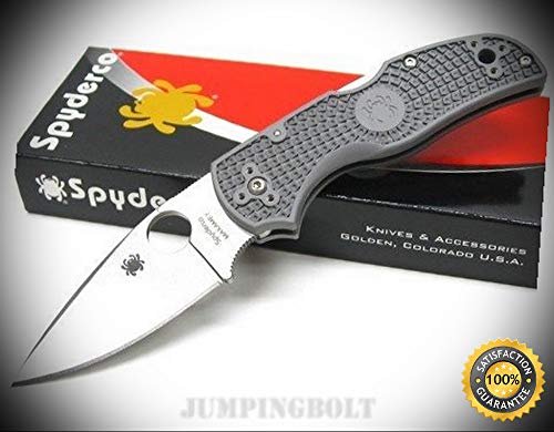 Gray Native 5 Plain Edge Maxamet Steel Folding Pocket Knife C41PGY5 - Premium Quality Very Sharp EMT EDC (Native Trails Diego)