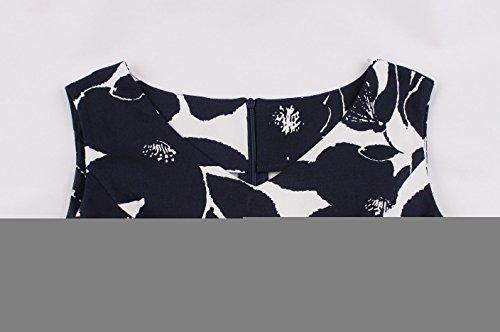 Vintage Blazar Da Navy Forti Matrimonio Taglia Blue Casuale 4 Vestiti Sera stile Donna Filati autunnali Abiti Estivi Lunghe Vestito Maniche Ufficio Festa Party Anni 1950 Cocktail Fiore Club Eleganti Ricamo Net rfPraqg