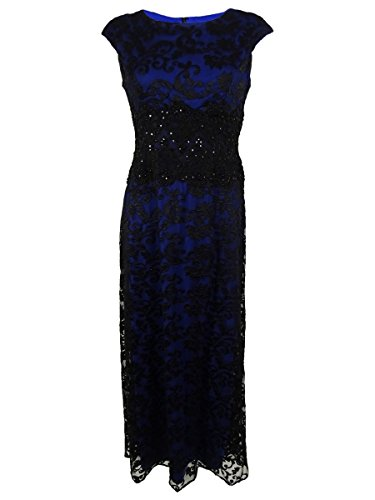 Alex Evenings Womens Petites Embroidered Lace Evening Dress Black 6P by Alex Evenings