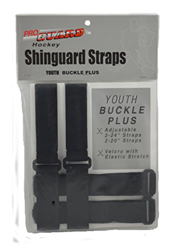 (Proguard Junior Buckle Plus Shin Guard Strap, Black)