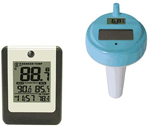 Ambient Weather WS-14 Wireless 8-Channel Floating Pool and Spa Thermometer
