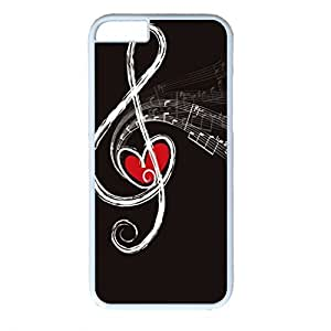 iCustomonline Heart in the Note Personalized Custom Hard Back PC White Case for iPhone 6 (4.7 inch)