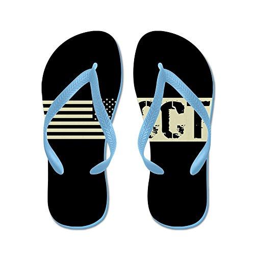 CafePress U.S. Air Force: Combat Control Team (BL - Flip Flops, Funny Thong Sandals, Beach Sandals Caribbean Blue