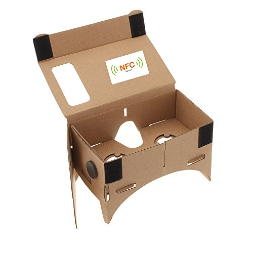 """Andoer DIY Google Cardboard Virtual Reality VR 3D Glasses with NFC Tag for 4.5"""" Screen Samsung Sony HTC Andriod Cellphones size S"""