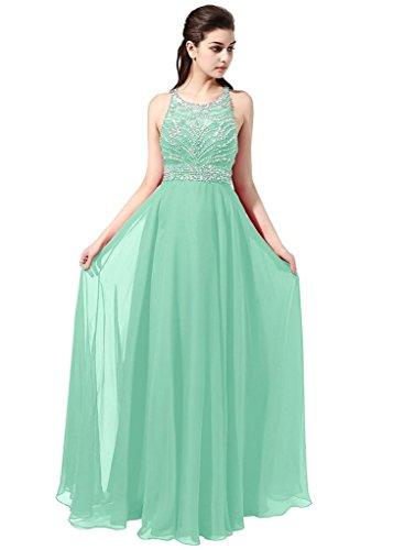 Ysmo - Vestido - trapecio - para mujer verde menta