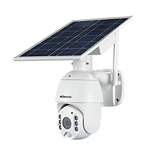 Irfora 1080P Wireless Solar Panel Security Camera 2MP Outdoor Waterproof Rechargeable Battery Surveillance Camera with…