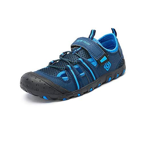 DREAM PAIRS Boys Girls 181106K DarkBlue RoyalBlue Green Closed-Toe Outdoor Summer Sport Sandals Size 8 M US Toddler
