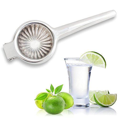 Jeanzer Manual Lemon Squeezer / Lime Juicer / Citrus Press - Quality 304 Stainless Steel - Aluminum Lime Squeezer