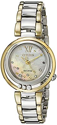 Citizen Women's EM0324-58D Citizen L Sunrise Diamond-Accented Two-Tone Stainless Steel Watch