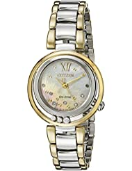 Citizen Womens EM0324-58D Citizen L Sunrise Diamond-Accented Two-Tone Stainless Steel Watch