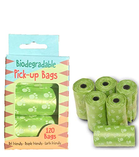 Dog Waste Bags 120 Bags per Box 6 Rolls of 20 Bags Fit in Standard Bag Dispensers Unscented Each Dog Poop Bag Measures…