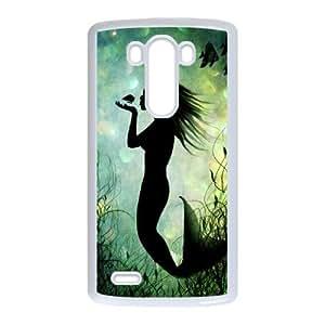 LIULAOSHI Mermaid Phone Case for LG G3 White [Pattern-1] by Maris's Diary