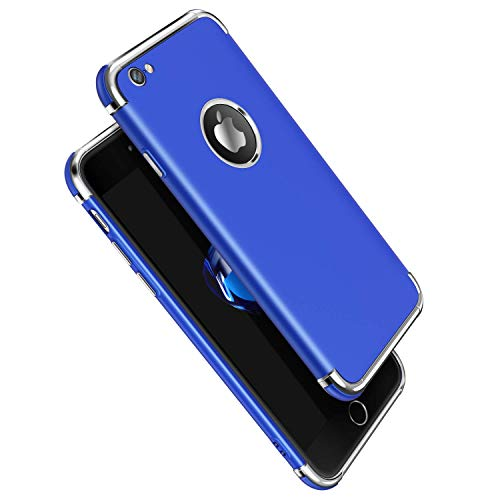 - iPhone 6S Case, Meifigno 3 in 1 Stylish Soft TPU Case [Shock Absorption] with Premium Air Bumper Protection [Compatible with Wireless Charging] for Apple iPhone 6 Phone / 6S Phone Case - Blue