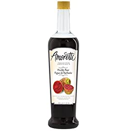 Amoretti Premium Prickly Pear Syrup, 25.4 Fluid Ounce 5 Made with natural flavor Delicious for flavoring beverages Only 35 calories per serving and 62 servings per bottle