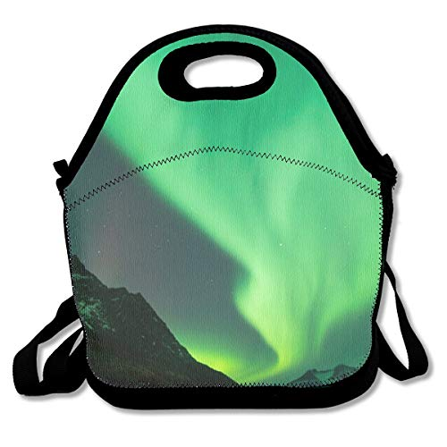 Lcokin Aurora Borealis Wallpaper Cute, Thermal,Insulation Lunch Bag - Reusable Work and School Lunch Handbags-Lunch Bags for Women, Men and Children