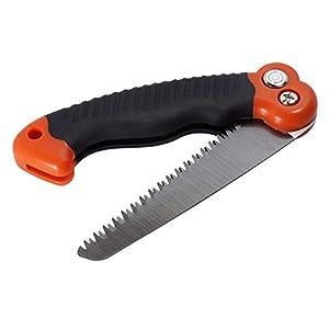 SE PS185 10.5-Inch Folding Mini Camping/Pruning Saw, Tripe Teeth Saw Blade Design