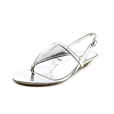 Women's Rietta Wedge Sandals Silver Size 5.5