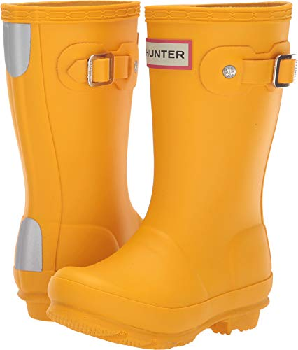 Hunter Kids Unisex Original Kids' Rain Boot (Toddler/Little Kid) Yellow 11 M US Little - Hunter Yellow Boots Rain
