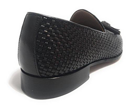 Ben.ter (scarpe Artigianali) Herren Mokkasins Schwarz Ebano