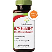 B/P Stabili-T - Blood Pressure Supplement - Helps Prevent Plaque Build Up - Improves Cardiovascular Health and Blood Circulation - Natural Formula with Ashwagandha, Hawthorn Berry (120 Capsules)