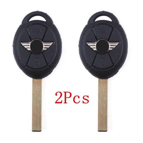 2Pcs New Smart Keyless Uncut 3 Buttons Car Key Case Shell Fob for BMW Mini Cooper S R50](Mini Cooper S Key Case)