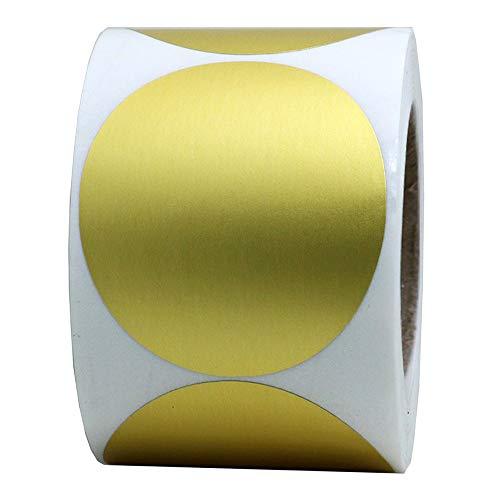 Round Gold Stickers 2