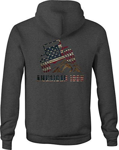 Jeep Zip Up Hoodie American Icon Hooded Sweatshirt for Men - 2XL Gray