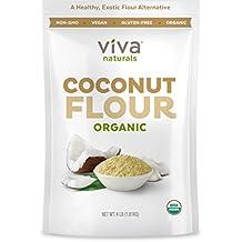 Viva Naturals Organic Non-GMO and Gluten-Free Coconut Flour, 4 Pound