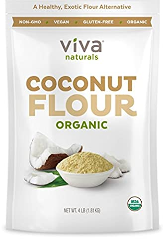 Viva Naturals Organic Non-GMO and Gluten-Free Coconut Flour, 4 Pound - Simply Delicious Muffins